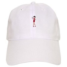 WOMAN WITH MARTINI Baseball Baseball Cap