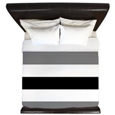 black gray stripes King Duvet