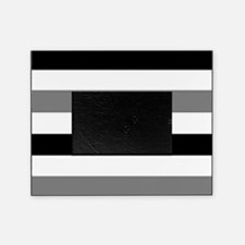 black gray stripes Picture Frame