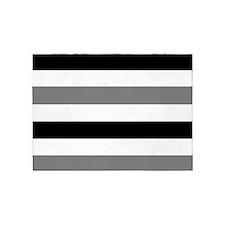 black gray stripes 5'x7'Area Rug