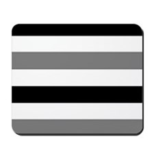 black gray stripes Mousepad