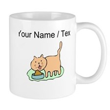 Custom Cat Eating Mugs
