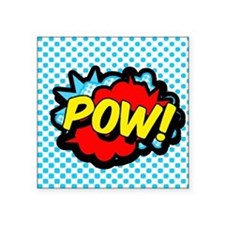 "Superhero POW! bubble Square Sticker 3"" x 3"""