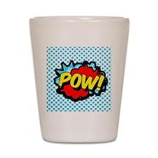 Superhero POW! bubble Shot Glass