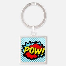 Superhero POW! bubble Square Keychain
