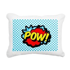 Superhero POW! bubble Rectangular Canvas Pillow