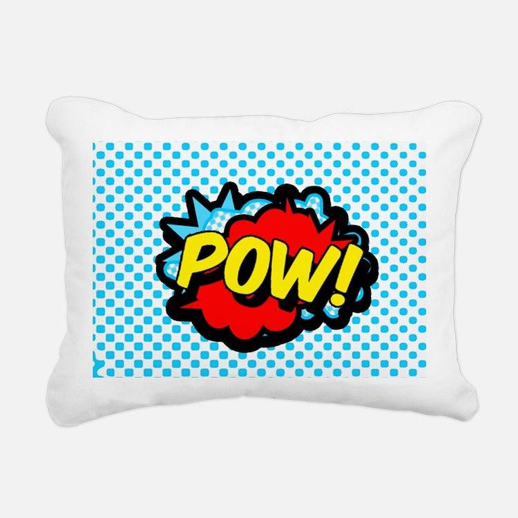 Superhero POW! bubble Rectangular Canvas Pillow