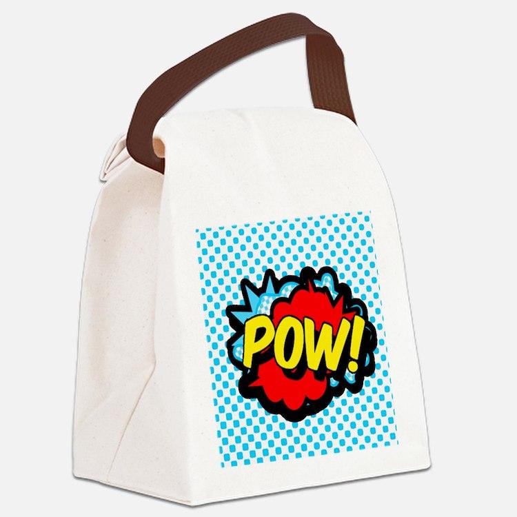 Superhero POW! bubble Canvas Lunch Bag