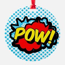 Superhero POW! bubble Ornament