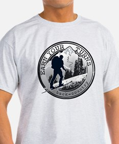 Unique Ski skiing telemark tele snow winter sport T-Shirt