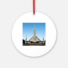 LDS Dallas Texas Temple Ornament (Round)