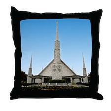 LDS Dallas Texas Temple Throw Pillow