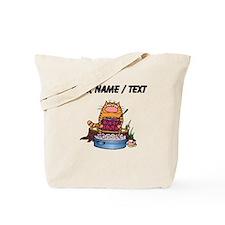 Custom Cat Camping Tote Bag