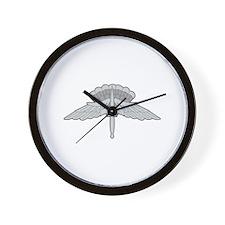 FREE FALL PARACHUTIST Wall Clock