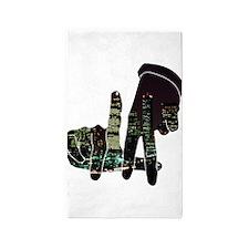 black hands Area Rug