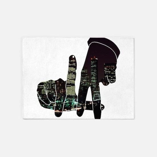 black hands 5'x7'Area Rug