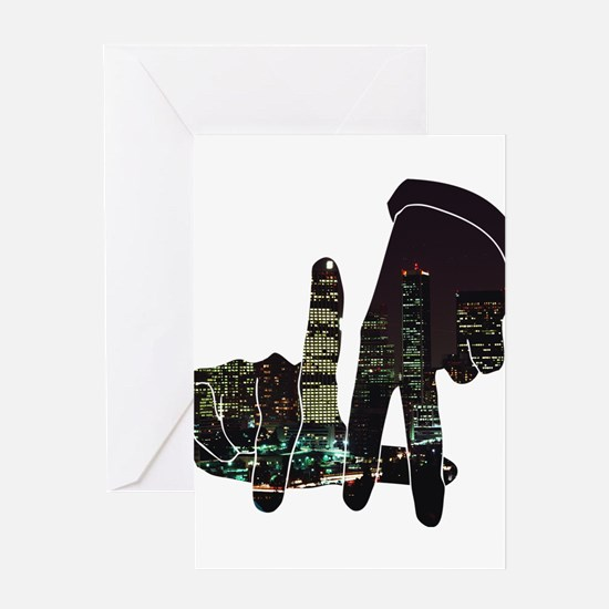 black hands Greeting Cards