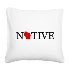 Native - Wisconsin Square Canvas Pillow