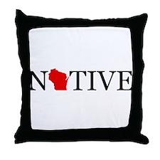 Native - Wisconsin Throw Pillow