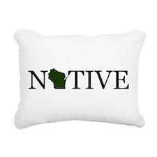 Native - Wisconsin Rectangular Canvas Pillow