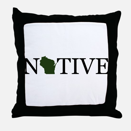 Native - Wisconsin Throw Pillow