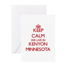 Keep calm we live in Kenyon Minneso Greeting Cards