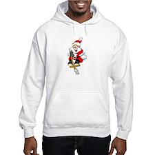Pogo Stick Santa Hoodie