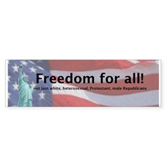 Freedom for All! (Bumper Sticker)