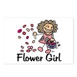 Cartoon Flower Girl Postcards (Package of 8)