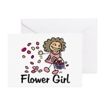 Cartoon Flower Girl Greeting Cards (Pk of 10)