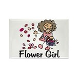 Cartoon Flower Girl Rectangle Magnet