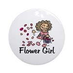 Cartoon Flower Girl Ornament (Round)