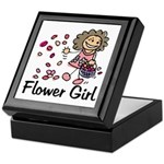Cartoon Flower Girl Keepsake Box