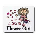 Cartoon Flower Girl Mousepad
