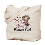 Cartoon Flower Girl Tote Bag
