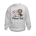 Cartoon Flower Girl Kids Sweatshirt
