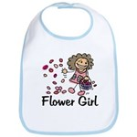 Cartoon Flower Girl Bib