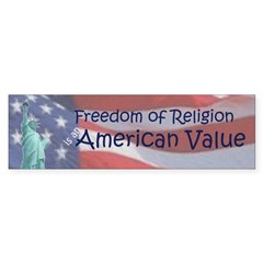 Freedom of Religion (Bumper Sticker)