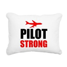 Pilot Strong Rectangular Canvas Pillow