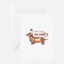 LITTLE LEGS BIG HEART Greeting Cards