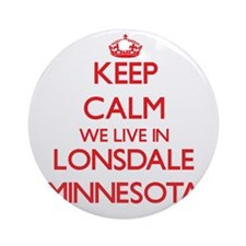 Keep calm we live in Lonsdale Min Ornament (Round)