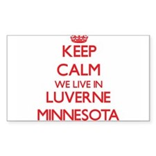 Keep calm we live in Luverne Minnesota Decal