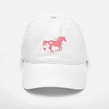 Pink Galloping Heart Horse Baseball Baseball Baseball Cap