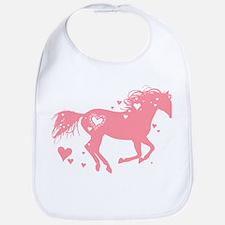 Pink Galloping Heart Horse Bib