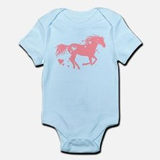 Pink Galloping Heart Horse Body Suit