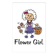 Cartoon Flower Girl Postcards (Package of 8)