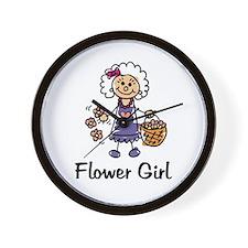 Cartoon Flower Girl Wall Clock