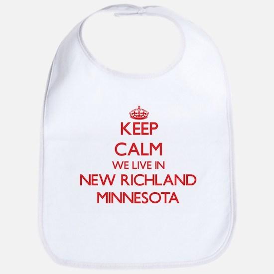Keep calm we live in New Richland Minnesota Bib