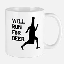 WILL RUN FOR BEER Mugs