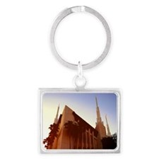 LDS Las Vegas Temple at Sunset Keychains